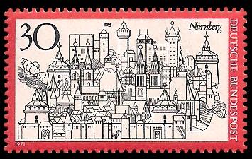 30 Pf Briefmarke: Nürnberg