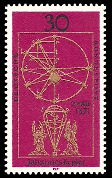 30 Pf Briefmarke: 400. Geburtstag Johannes Kepler
