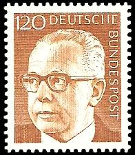 120 Pf Briefmarke: Bundespräsident Gustav Heinemann