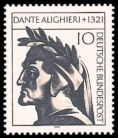 10 Pf Briefmarke: 650. Todestag Dante Alighieri