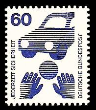 60 Pf Briefmarke: Jederzeit Sicherheit