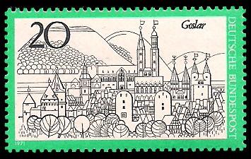20 Pf Briefmarke: Goslar