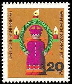 20 + 10 Pf Briefmarke: Weihnachtsmarke 1971