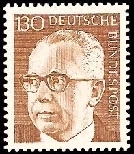 130 Pf Briefmarke: Bundespräsident Gustav Heinemann