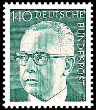 140 Pf Briefmarke: Bundespräsident Gustav Heinemann