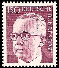 150 Pf Briefmarke: Bundespräsident Gustav Heinemann