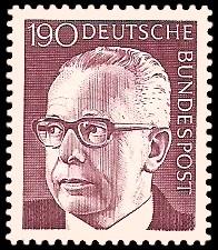190 Pf Briefmarke: Bundespräsident Gustav Heinemann