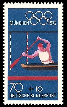 70 + 10 Pf Briefmarke: Olympische Spiele 1972 in München