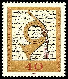 40 Pf Briefmarke: 100 Jahre Postmuseum