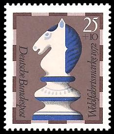 25 + 10 Pf Briefmarke: Wohlfahrtsmarke 1972, Schachfiguren