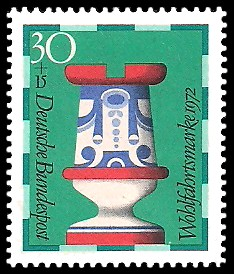 30 + 15 Pf Briefmarke: Wohlfahrtsmarke 1972, Schachfiguren