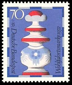 70 + 35 Pf Briefmarke: Wohlfahrtsmarke 1972, Schachfiguren