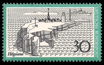30 Pf Briefmarke: Helgoland