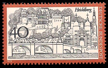 40 Pf Briefmarke: Heidelberg