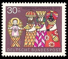 30 + 15 Pf Briefmarke: Weihnachtsmarke 1972