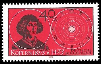 40 Pf Briefmarke: 500. Geburtstag Nikolaus Kopernikus