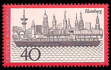 40 Pf Briefmarke: Hamburg