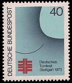 40 Pf Briefmarke: Deutsches Turnfest Stuttgart 1973