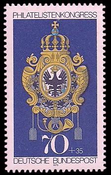 70 + 35 Pf Briefmarke: Philatelistenkongress und IBRA