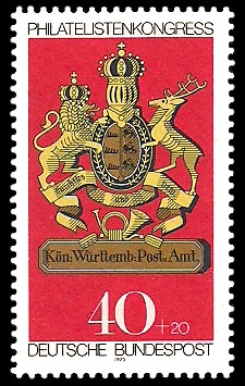 40 + 20 Pf Briefmarke: Philatelistenkongress und IBRA