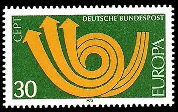 30 Pf Briefmarke: Europamarke 1973