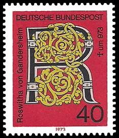 40 Pf Briefmarke: 1000. Todestag Roswitha von Gandersheim