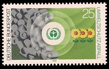 25 Pf Briefmarke: Umweltschutz