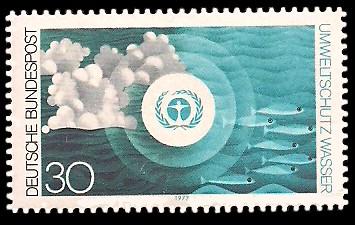 30 Pf Briefmarke: Umweltschutz