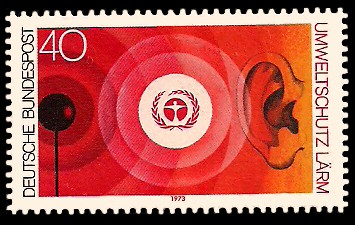 40 Pf Briefmarke: Umweltschutz