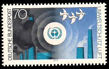 70 Pf Briefmarke: Umweltschutz