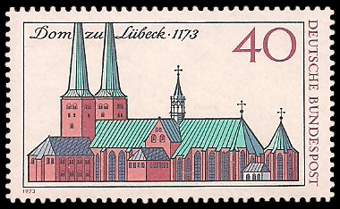 40 Pf Briefmarke: 800 Jahre Dom zu Lübeck