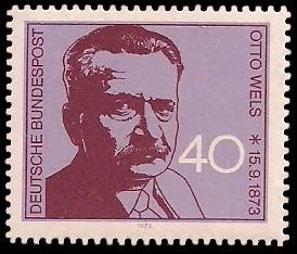 40 Pf Briefmarke: 100. Geburtstag Otto Wels