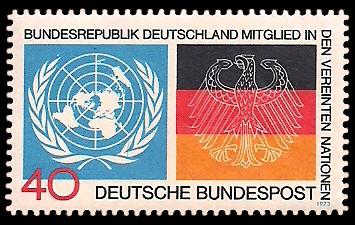 40 Pf Briefmarke: UNO Aufnahme der Bundesrepublik Deutschland
