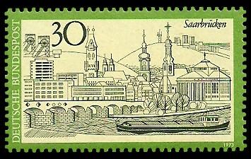 30 Pf Briefmarke: Saarbrücken