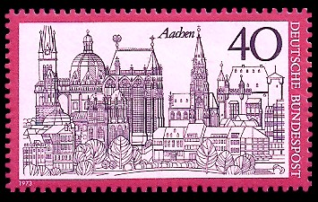 40 Pf Briefmarke: Aachen
