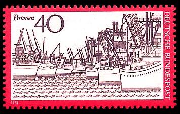40 Pf Briefmarke: Bremen