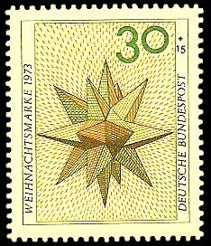 30 + 15 Pf Briefmarke: Weihnachtsmarke 1973