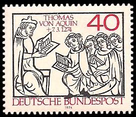 40 Pf Briefmarke: 700. Todestag Thomas von Aquin