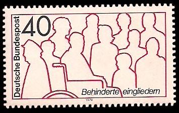 40 Pf Briefmarke: Behinderte eingliedern