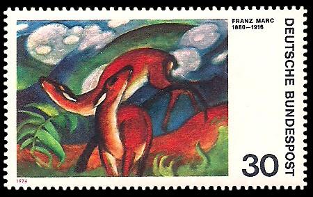 30 Pf Briefmarke: Moderne Gemälde