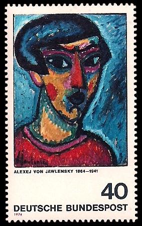 40 Pf Briefmarke: Moderne Gemälde