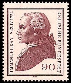 90 Pf Briefmarke: 250. Geburtstag Immanuel Kant