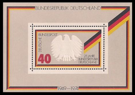Briefmarke: Block: 25 Jahre Bundesrepublik Deutschland