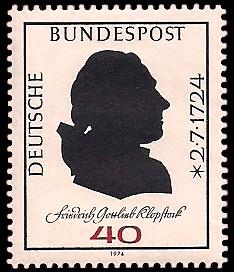 40 Pf Briefmarke: 250. Geburtstag Friedrich Gottlieb Klopstock