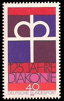 40 Pf Briefmarke: 125 Jahre Diakonie