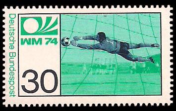 30 Pf Briefmarke: Fußball-Weltmeisterschaft 1974