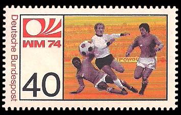 40 Pf Briefmarke: Fußball-Weltmeisterschaft 1974