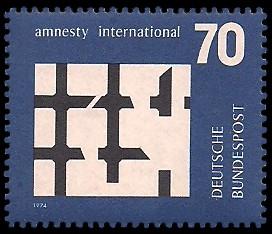 70 Pf Briefmarke: Amnesty International