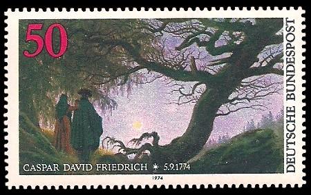 50 Pf Briefmarke: 200. Geburtstag Caspar David Friedrich