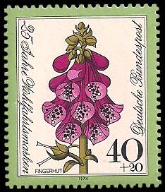 40 + 20 Pf Briefmarke: 25 Jahre Wohlfahrtsmarken